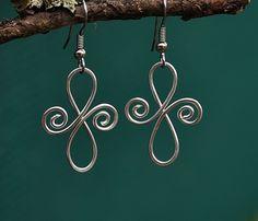 Silver Koru Cross earrings Cross Earrings, Celtic, Washer Necklace, Silver, Jewelry, Jewlery, Jewerly, Schmuck, Jewels