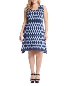 Karen Kane Plus Ikat Print Tank Dress | Bloomingdale's