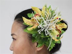 Orchid & Spider Lily [Yellow] - Hair Accessories - Hula Supply | AlohaOutlet SelectShop