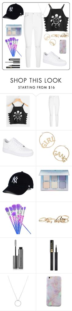 """🙊🙊🙊"" by hoho-otaibbi ❤ liked on Polyvore featuring beauty, AG Adriano Goldschmied, NIKE, BP., Anastasia Beverly Hills, GUESS, Perricone MD, Lancôme and Roberto Coin"
