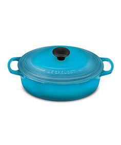 Le Creuset Caribbean 3.5-Qt. Cast Iron Wide Oven