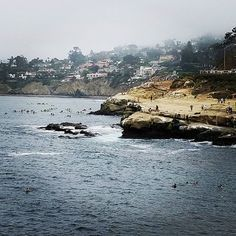 A cloudy day at La Jolla cove.  #lajolla #lajollacove #california #beach #beachlife #cliff #cove #lajollalocals #sandiegoconnection #sdlocals - posted by Ashley  https://www.instagram.com/ashley_tanelle. See more post on La Jolla at http://LaJollaLocals.com