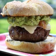 Burger with Guacamole and Provolone