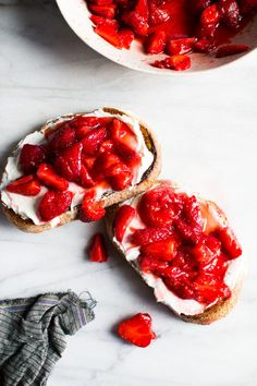 Cream Cheese and Macerated Strawberry Toast | 13 Drool-Worthy Summer Breakfasts Totally Worth Waking Up For