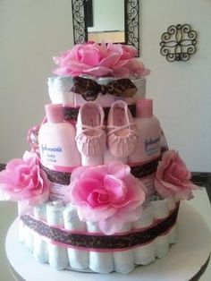 Custom Cake for a girl!! baby shower idea!!! love it by tonia