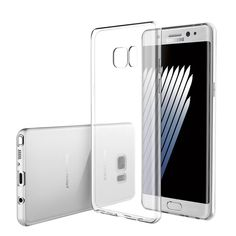 """Samsung Galaxy Note 7 Silicone Back Cover Ultra-Thin Protection Case Clear Transparent  -  Gorgeous transparent clear case, it perfectly preserves the beauty of the mobile phone. It gives the smartphone the best protection in combination with the advantage of the """"case-free"""" effect. It is a very soft and resistant material. It is capable of absorbing the shock energy. The thin silicone cover is very high-quality processed and perfectly tailored to your phone model. Due to the delicate design…"""
