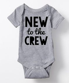 Loving this Athletic Heather 'New to the Crew' Bodysuit - Infant on #zulily! #zulilyfinds