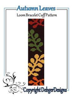 Autumn+Leaves+-+Loom+Bracelet+Cuff+Pattern