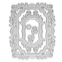 Raza DIY 4Pcs/set Flower Photo Frame Cutting Dies Stencils Template Embossing for Scrapbooking Album Photo Card Art Painting Decor Review