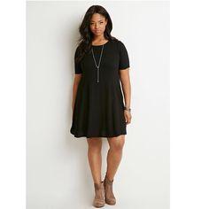 Black Forever 21 Plus Size Ribbed Sweater Dress Worn once forever 21+ ribbed sweater skater dress Forever 21 Dresses