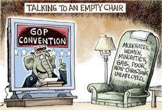 Empty Chair © Joe Heller,Green Bay Press-Gazette,clint eastwood, talking to an empty chair, gop convention, nrc, mitt romney