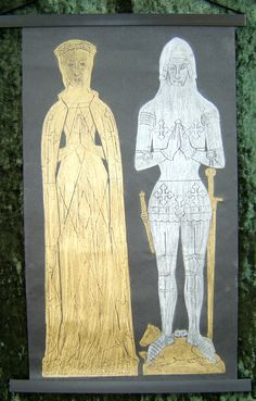 What are brass rubbings?   Gryphon Medieval Brass Rubbings