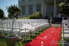 Wedding on the lawn at Buxted Park