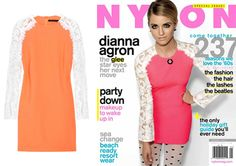 """Get Dianna Agron's Christopher kane dress (on the cover of Nylon Mag).. """"only"""" $1490 on Net-A-Porter.. can i DIY this somehow?"""