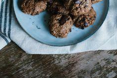 Schoko Mandelmus Cookies | vegan - gluten free | chocolate almond Chai, Vegan, Cereal, Oatmeal, Breakfast, Gluten, Food, Recipes, Mudpie