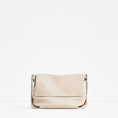 ZARA - WOMAN - LEATHER CROSSBODY BAG WITH CHAIN