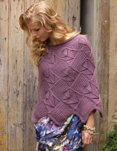 Calhoun Lace Poncho, The Knitter 35 by Annie Modesitt Crochet Cape, Knit Or Crochet, Lace Knitting, Crochet Shawl, Knitting Patterns, Knit Cowl, Knitted Poncho, Knitted Shawls, Knitting Accessories