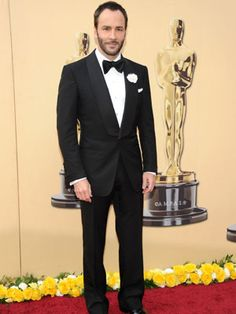 Tom Ford- Great Designer. I would love for the future hubby's tux to look like this. Tailored so well!!!!