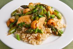 Asparagus and Cashew Chicken Stir-fry
