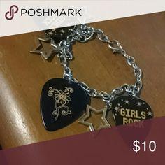 Girls Rock! Charm bracelet Brand new charm bracelet! Claire's Jewelry Bracelets