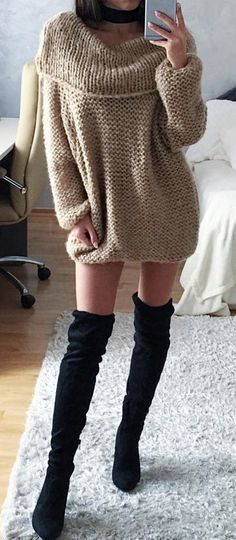Warm sweater, $19.99! Free shipping & Easy Return + Refund! Every other sweater should take notes on how to be as awesome one! The off the shoulder is so trendy and chic! And you can't overlook the perfect of the length and comfort  of it. Plus you can see how gorgeous the color is!