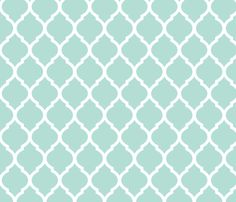Mint Moroccan Lattice fabric by jenniferstuartdesign on Spoonflower - custom fabric