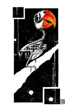 "Limited edition (10) token of Skeenee´s ""Parrot Skeleton"" available on the Ethereum Blockchain through www.makersplace.com. #cryptoArt #skeenee #cryptoartist #skull #skullart Sumi Ink, Anatomy Drawing, Blockchain Technology, Skull Art, Skeleton, Parrot, Renaissance, Watercolor Paintings"