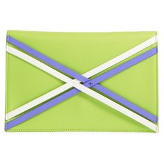 Danielle Nicole 'Nia' Clutch ($58) ❤ liked on Polyvore featuring bags, handbags, clutches, lime combo, chain strap crossbody purse, crossbody purse, green purse, neon green purse and neon purse