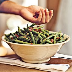 Holiday Sides | Green Beans with Bacon | CookingLight.com