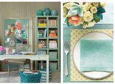 sea green for the table... I think I'm gonna go for sea green in my living room. I just LOVE it!