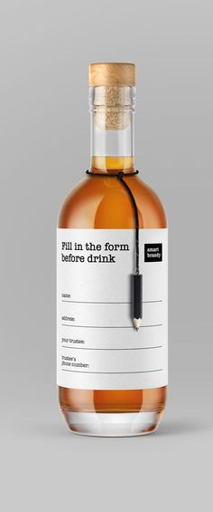 Daria Kalenchuk - Fill in the form before drink! Smart Brandy #packaging #design #diseño‬ #empaques #embalagens‬ #дизайна #упаковок #パッケージデザイン‬ #emballage‬ #worldpackagingdesign #bestpackagingdesign #worldpackagingdesignsociety