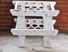 Chippy Vintage Bench Coastal White Chippy Paint by TheVelvetBranch, $54.95