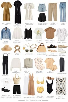 Capsule Outfits, Fashion Capsule, Mode Outfits, Capsule Wardrobe Summer, Holiday Wardrobe, Fashion Essentials, Boho Fashion, Autumn Fashion, Fashion Outfits