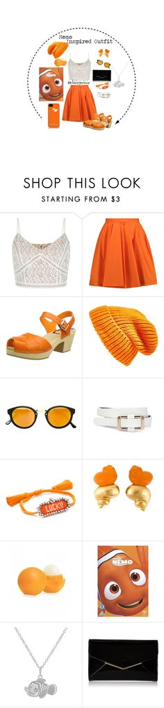 """Finding Nemo"" by disneyxesme on Polyvore featuring Carven, Swedish Hasbeens, Topshop, RetroSuperFuture, Christian Dior, Eos, Disney, Furla, disney and disneybound"