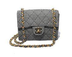 Chanel & Houndstooth Mini Classic Flap Shoulder Bag $2,525