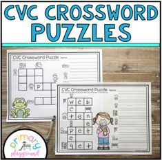 CVC Crossword Puzzles by Primary Playground | Teachers Pay Teachers