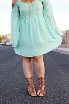 The Kinch Life // ShopRiffraff.com's How Sweet it Is Dress in Mint!