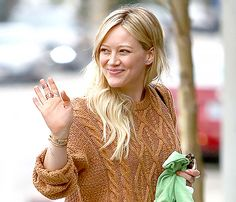 Hilary Duff goes without makeup on Monday, Jan. 26, in Beverly Hills.