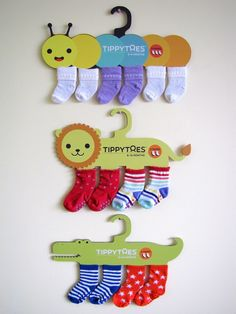 Baby socks packaging created for a Packaging Design course. Reusable as sock hangers.