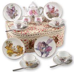 Flower Fairies Child's Tea Set By Reutter Porcelain - (Med) Dishwasher Safe…