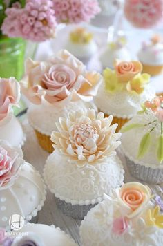 Beautiful Cake Pictures: Pretty Pastel Wedding Cupcakes - Cupcake, Wedding Cupcakes -