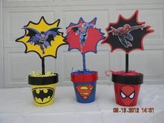 Centerpieces like this will set the scene and steal the show at your little one's superhero party! Description from pinterest.com. I searched for this on bing.com/images