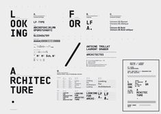 Typography: Looking For Architecture Design graphique — identité visuelle , 2012 Graphic Design Studios, Graphic Design Typography, Graphic Design Illustration, Typography Layout, Vintage Typography, Typography Poster, Editorial Layout, Editorial Design, Layout Design