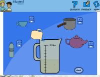 Interactive activities and online games for teaching capacity and volume in mathematics. Terrific!