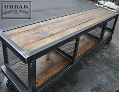 ~Urban Industrial Coffee Table by urbanwoodandsteel on Etsy