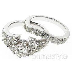 2.90CT Round Cut Diamonds Bridal Set