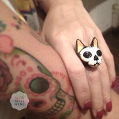 Items similar to Mori, Skull Cat Ring , Día de Muertos on Etsy Skull Cat, Satsuriku No Tenshi, Cat Ring, Cat Jewelry, Jewlery, Polymer Clay Crafts, Skull And Bones, Artisanal, Crazy Cat Lady