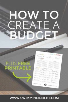 Take control of your money! Learn how to create a budget.