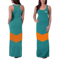 Miami Dolphins '47 Brand Women's Encore Maxi Dress - Aqua - $74.99