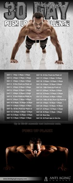 30 Day Push Up Challenge and the Top Benefits of Push Ups! | http://blog.antiagingcompany.com/push-up-challenge/